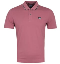 CP Company Short Sleeve Slim Fit Tipped Red Polo Shirt