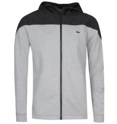 Lacoste Two-Tone Zip-Through Grey Hoodie