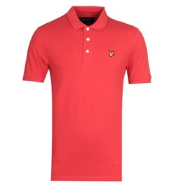 Lyle & Scott Red Short Sleeve Polo Shirt