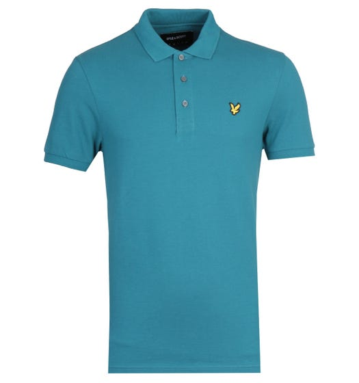Lyle & Scott Teal Short Sleeve Polo Shirt