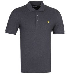 Lyle & Scott Slim Stretch Charcoal Grey Polo Shirt