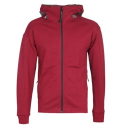 CP Company Zip-Through Goggle Hood Red Track Jacket