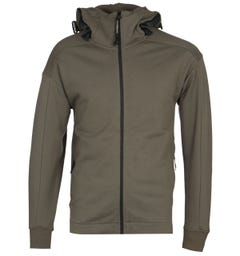 CP Company Zip-Through Goggle Hood Olive Track Jacket