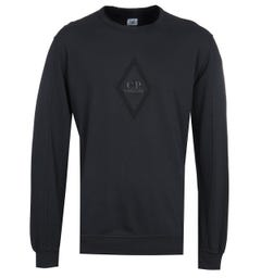 CP Company Diamond Logo Black Sweatshirt