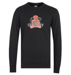 CP Company Zip-Though Arms Lens Black Pullover Hoodie