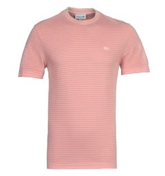 Lacoste Homme Pink Stripe T-Shirt