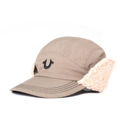 True Religion UK Earflap Khaki Caps