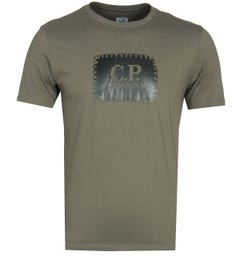CP Company Large Logo Dusty Olive T-Shirt