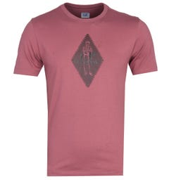 CP Company Diamond Sailor Print Red T-Shirt