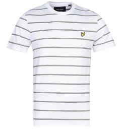 Lyle & Scott Thin Stripe White T-Shirt