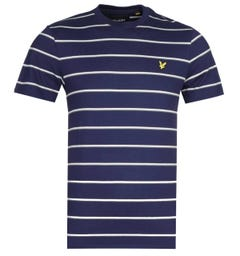 Lyle & Scott Thin Stripe Navy T-Shirt