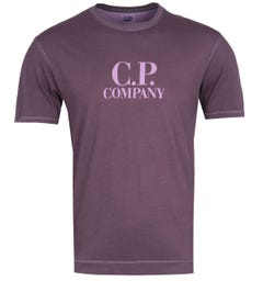 CP Company Garment Dyed Purple Grape T-Shirt