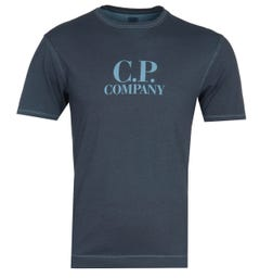 CP Company Garment Dyed Bluejay T-Shirt