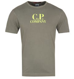 CP Company 'CP' Print Olive T-Shirt