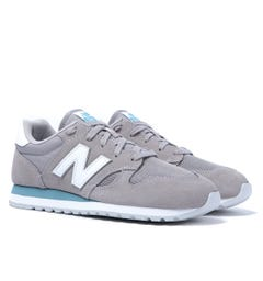 New Balance U520 Stone Grey Suede Trainers