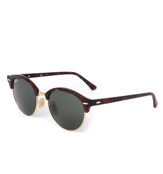 Ray-Ban Clubmaster Classic Tortoise Brown Sunglasses