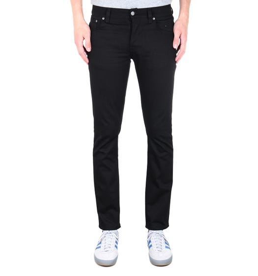 Nudie Jeans Co Grim Tim Dry Cold Black Denim Regular Fit Jeans