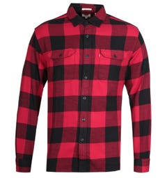 Levi's Jackson Worker Deep Red Overshirt