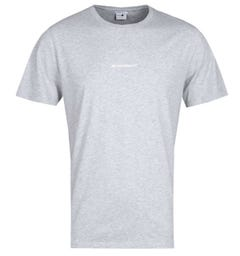 NN07 Ethan 3208 No Nationality Print Grey Marl T-Shirt
