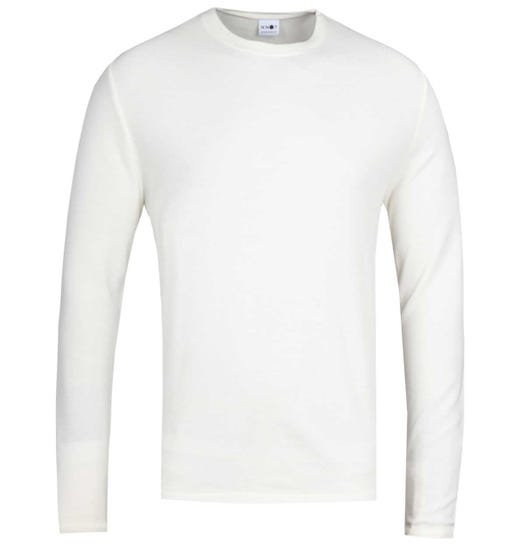 NN07 Clive 3323 Waffle Knit Off White Sweater