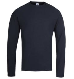 NN07 Clive 3323 Waffle Sweater - Navy