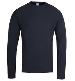 NN07 Clive 3323 Waffle Knit Navy Sweater