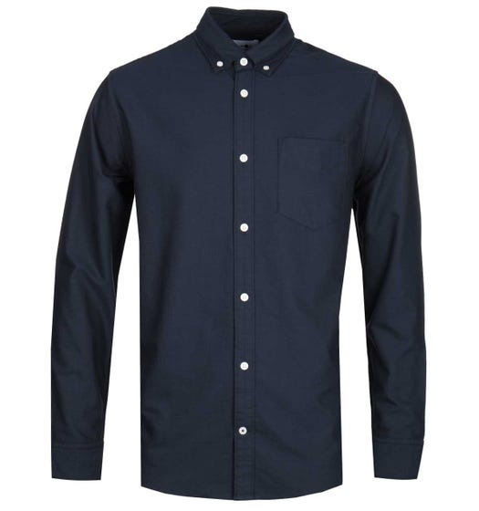 NN07 Levon 5142 Button Down Navy Long Sleeve Shirt