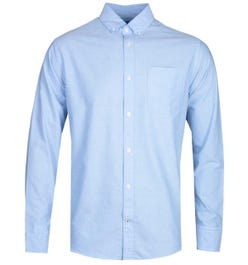 NN07 Levon 5142 Button Down Sky Blue Long Sleeve Shirt