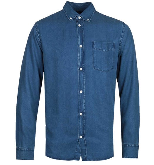 NN07 Levon 5767 Long Sleeve Shirt - Blue Wash