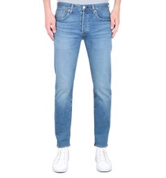Levi's Premium 501 Slim Fit Tapered Light Blue Wash Denim Jeans