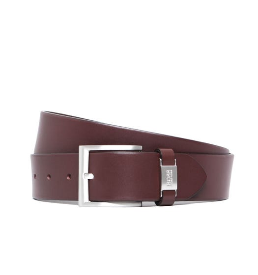 BOSS Connio Brown Leather Belt