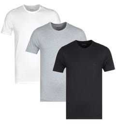 BOSS Bodywear 3 Pack Black, White & Grey Crew Neck T-Shirts