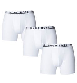 BOSS Bodywear Three Pack Regular Rise White Boxer Briefs