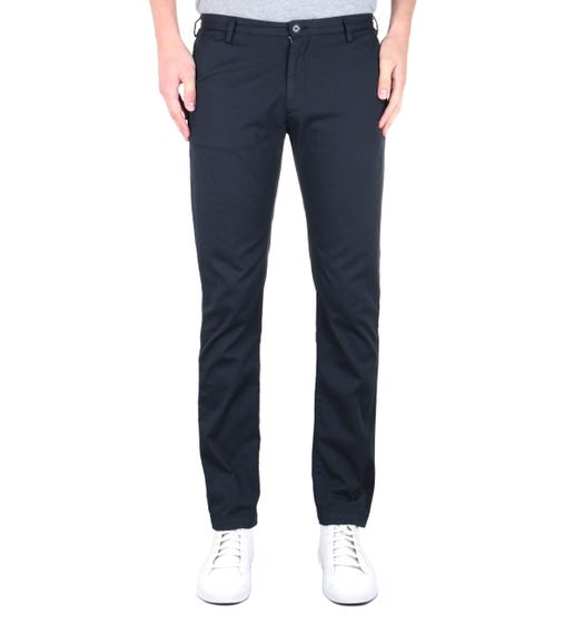 BOSS Casual Slim Fit Dark Navy Rice3-D Chinos