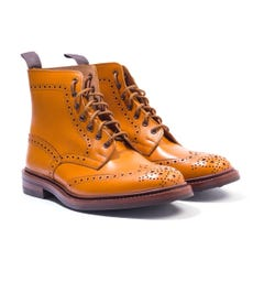 Tricker's Stow Acorn Antique Brogue Derby Country Boots