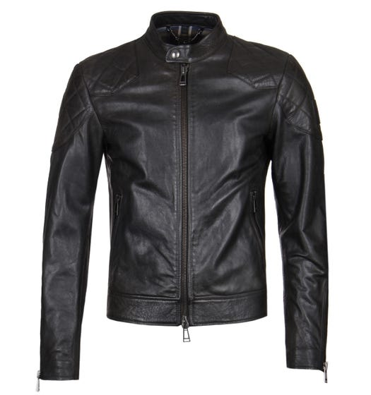 Belstaff Outlaw Black Leather Jacket