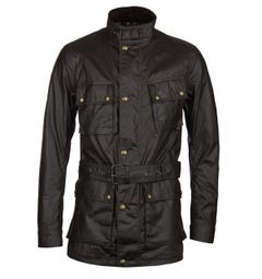 Belstaff Trialmaster Faded Olive Wax Jacket