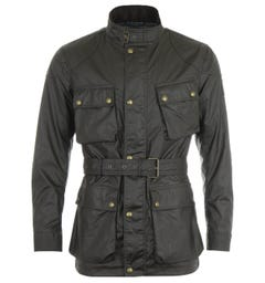 Belstaff Trialmaster Waxed Cotton Jacket - Faded Olive