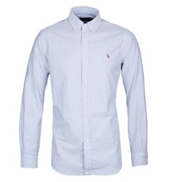 Polo Ralph Lauren Blue & White Long Sleeve Shirt