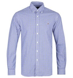 Polo Ralph Lauren Slim Fit Blue/White Oxford Gingham Shirt