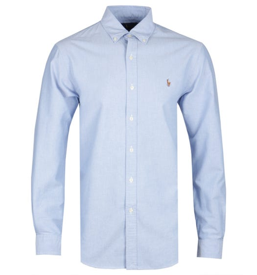 Polo Ralph Lauren Blue Chambray Slim Fit Shirt