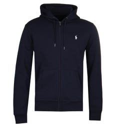 Polo Ralph Lauren Navy Tech Fleece White Logo Hoodie