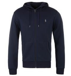 Polo Ralph Lauren Navy Tech Fleece Grey Logo Hoodie