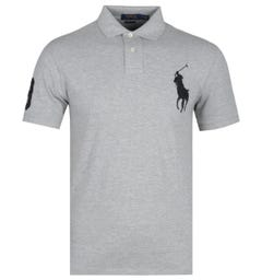 Polo Ralph Lauren Big Pony Logo Grey Heather Polo Shirt