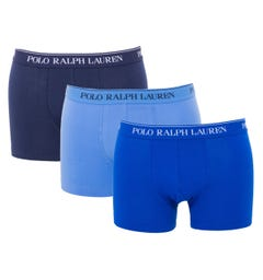 Polo Ralph Lauren 3 Pack Classic Trunk Boxers - Multi Blue