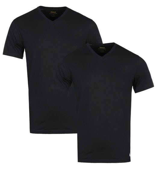 Polo Ralph Lauren 2 Pack Black V-Neck T-Shirts
