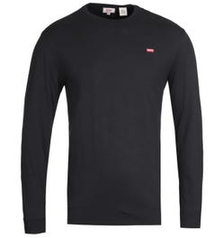 Levi's Original Long Sleeve Black Cotton T-Shirt