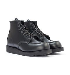 Red Wing 8137 Classic Moc Toe Boots - Black