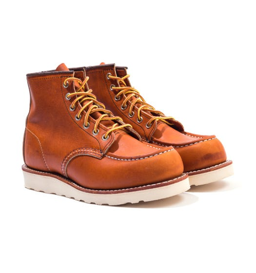 Red Wing 875 Classic Moc Toe Leather Boots - Oro Legacy