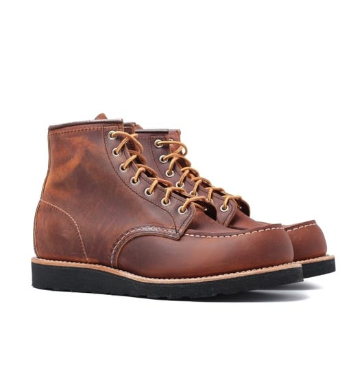 """Red Wing 8886 Classic 6"""" Copper Leather Boots"""